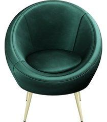 stylowy fotel tubes zielony