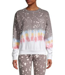 tie-dyed cotton sweatshirt