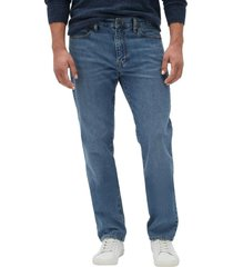 jeans straight medium wash azul gap
