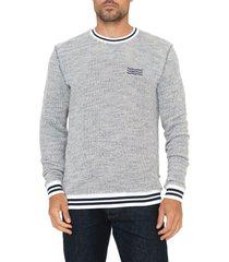 men's sol angeles baja terry crewneck sweatshirt, size small - blue