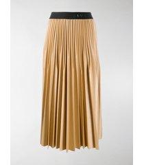 givenchy logo-tape mid-length skirt