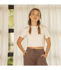 tshirt marfil para mujer hele t-shirt hele-beige-m
