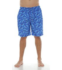pantaloneta de baño,  color azul rey para hombre