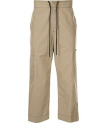 3.1 phillip lim tie waist cropped chinos - brown