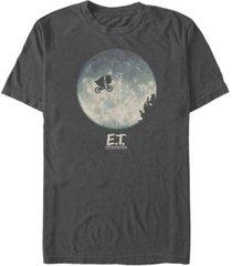 fifth sun e.t. the extra-terrestrial men's infamous flying bike scene silhouette logo short sleeve t-shirt