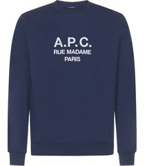 a.p.c. logo sweatshirt fleece