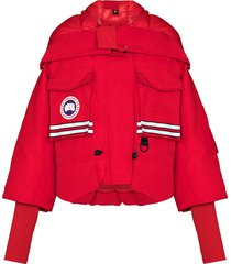 canada goose x angel chen snow mantra puffer jacket - red