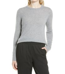 women's nordstrom cashmere sweater, size large - grey