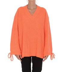msgm fluo oversize sweater
