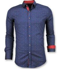 italiaanse overhemd - slim fit franse lelie blouse