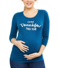 motherhood maternity extra thankful this year graphic tee