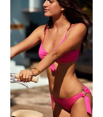 seafolly ring front bikini pink