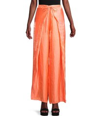 kenzo women's tie-waist wide-leg pants - apricot - size 36 (4)