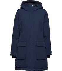 pauline down coat parka lange jas jas blauw lexington clothing