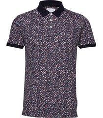 aop polo shirt s/s polos short-sleeved multi/mönstrad lindbergh