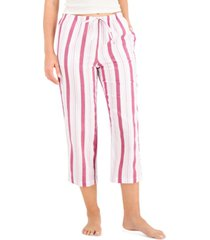 charter club printed cotton cropped pajama pants, created for macy's