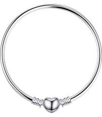 pulsera broche corazon casual plata arany joyas