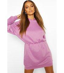 slouchy oversized hooded sweat dress, purple