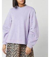 ganni women's isoli sweatshirt - violet tulip - m