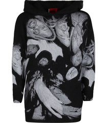 fourtwofour on fairfax black mohair-wool blend x wu tang sweatshirt