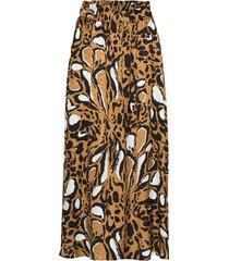 lorigz skirt so20 knälång kjol brun gestuz