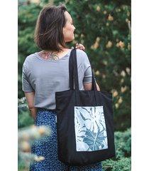torba moorea maxi czarna z niebieskim