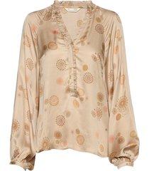 to love blouse blouse lange mouwen beige odd molly