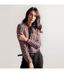 blusa para mujer en chifon multicolor color-multicolor-talla-xl