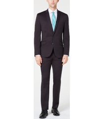 billy london men's slim-fit performance stretch suit