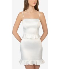 b darlin juniors' peplum-waist mini dress