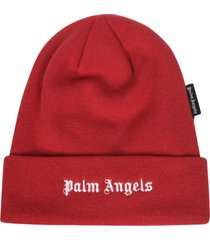 palm angels logo beanie