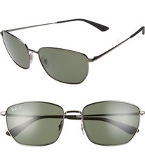 women's ray-ban 58mm polarized navigator sunglasses -