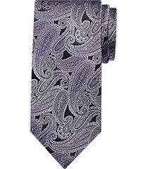 pronto uomo purple paisley narrow tie