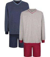 pyjama's per 2 stuks roger kent marine::bordeaux