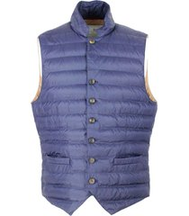 brunello cucinelli lightweight sleeveless gilet in nylon padded with real goose down