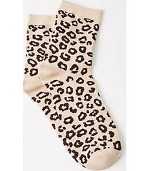 lou & grey cheetah print socks