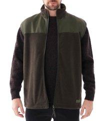 rains fleece vest jacket |green| 1815-03