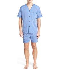 men's majestic international cotton blend pajamas, size small - blue