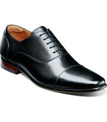zapato postino cap toe bal oxford negro florsheim