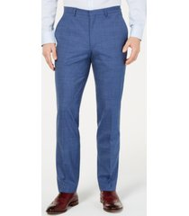 cole haan men's grand. os wearable technology slim-fit stretch pin-dot pants