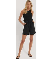trendyol paperbag-shorts - black