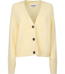 ganni relaxed fit cardigan