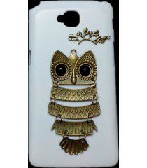 cute retro bronze metal owl branch hard back case cover for lg g pro lite d680