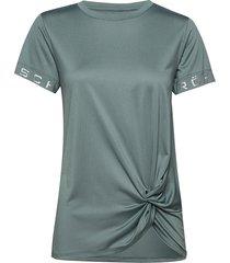 knot tee t-shirts & tops short-sleeved grön röhnisch