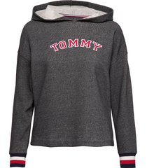 batwing hoody ls lingerie sweat-shirts & hoodies hoodies grå tommy hilfiger