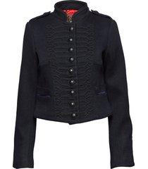 cropped duchess wool jkt wollen jack jack blauw superdry