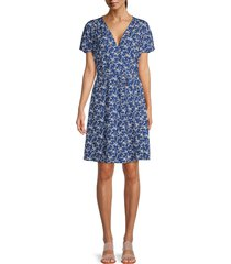 french connection women's shikoku faux wrap dress - allure blue - size 2