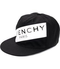 givenchy logo snapback cap - black