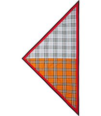 burberry vintage check cotton bandana in pale blue ip check at nordstrom