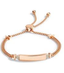 women's monica vinader baja deco id diamond slide bracelet